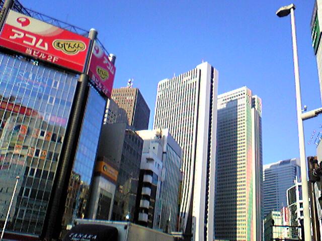 新宿は晴天!